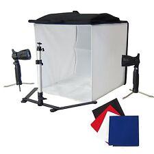 Cube Lumière Softbox Tente de Photo KIT: Boite Lumière Trépied 2x Lampe 4x Fond