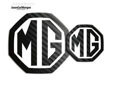 New MG ZR Badge Insert 04-05 Year Front Rear Logo 59mm 95mm Black Carbon & White