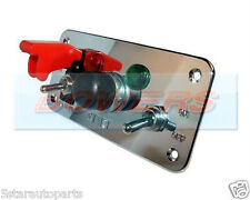 ALUMINIUM FLIP-UP IGNITION - START BUTTON SWITCH PANEL RACE RALLY CAR