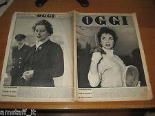 RIVISTA OGGI 1955/21=GINA LOLLOBRIGIDA=RUBINO BONORA=COLETTE DUVAL=GRACE KELLY