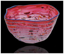 DALE CHIHULY Original Hand Blown Glass MACCHIA Signed Modern Artwork Basket SBO