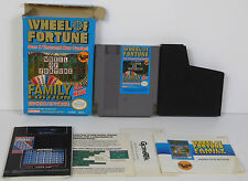 WHEEL OF FORTUNE : FAMILY EDITION (1990) NINTENDO NES w/ BOX **COMPLETE**