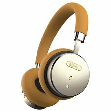 BÖHM Bluetooth Wireless Noise-Canceling On-Ear Headphones With Mic Tan/Gold BOHM