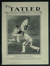 Cricket England Win Back Ashes Rhodes Gregory Oldfield 1926 Photo Article 7002
