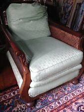 Antique BRITISH COLONIAL OR ANGLO-INDIAN SETTEE & chair handmade Deco 1920's EUC