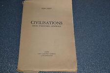 Civilisations essai d'histoire générale de Emery Leon (H5)
