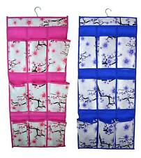 2 Non Woven Storage Units with 9 compartments Hanging Bathroom Bedroom