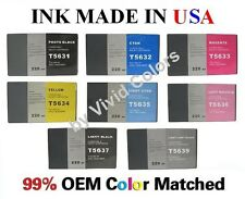 New 220ml Compatible ink cartridge for Epson Stylus 7800 9800- Full Set of 8