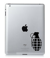 HAND GRANADE Apple iPad Mac Macbook Laptop Sticker Vinyl decal. Custom colour