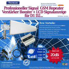 1500m2 GSM 900MHz Repeater Handy Verstärker Booster LOG +20dbi Antenne Vodafone