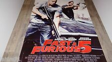 FAST AND FURIOUS 5   ! vin diesel  paul walker affiche cinema cars