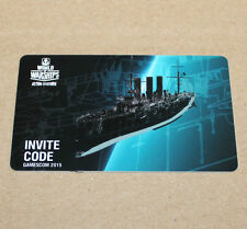 Gamescom 2015 World of warships Action stations invite código
