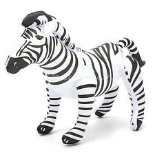 INFLATABLE ZEBRA ZOO SAFARI TOY ANIMAL PARTY DECORATION POOL KIDS SEA BEACH NEW