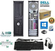 Dell Computer PC Windows 10 HP Desktop PC  WiFi Intel Core 2 Duo 4GB 250GB HD