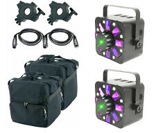 QTX HADRON ECO 3-IN-1 LED LIGHT EFFECT PROJECTOR STROBE LASER DMX DJ PACKAGE