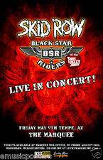 SKID ROW / BLACK STAR RIDERS (NEW THIN LIZZY) PHOENIX 2014 CONCERT TOUR POSTER