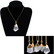 Popular Natural Crystal Stone Gemstone Pendant Womens Necklace Valentine's gifts