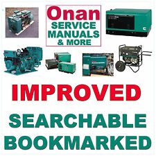 Onan BGM SERVICE MANUAL, OPERATOR, INSTALLATION & Illust PARTS -7- MANUALS SET
