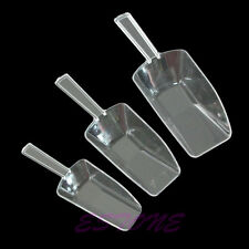 3x Bar Wedding Table Candy Lolly Buffet Scoop Lolly Small Clear Plastic Scoops