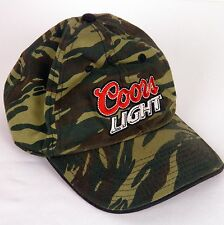 Coors Light Camo Baseball Cap Hat Embroidered Hook and Loop Adjustable