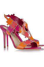 BRIAN ATWOOD Sommer Color Block Leather Sandals EU40 UK7 US10 NEW WITH BOX