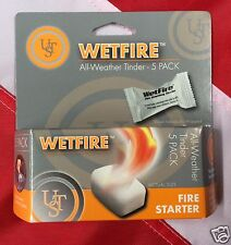 Wetfire All weather tinder survival tools emergency tactical bugoutgear 5 pk UST