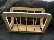 Vintage Natural Wood Magazine Rack