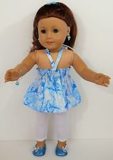 DOLL DRESS FOR American Girl Doll Top Leggings Shoes Jewelry Bracelet Clothes