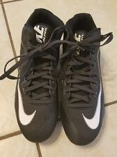 Nike Alpha Football Tennis Shoes Color Black and White Nike Skin Sz. 11.5
