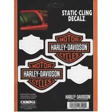 Harley-Davidson Bar & Shield 4 Decals Static-Cling Decalz free shipping