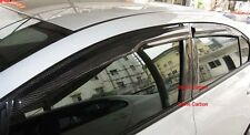 Carbon Fiber Visors Rain Guards 4pcs MG Style For Honda Civic 2012-2014