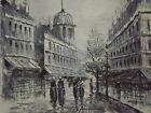 old cityscape large oil painting canvas original art european paris london white