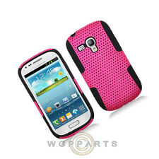 Samsung i8190 Galaxy S3 Mini Hybrid Mesh Case Hot Pink Case Cover Shell Guard