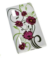 Design no. 4 Silicone TPU Cover Case + Pellicola protettiva display per LG e610 Optimus l5