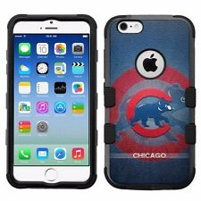 for Apple iPhone 6/6S Rugged Armor Impact Hybrid Case Chicago Cubs #BG