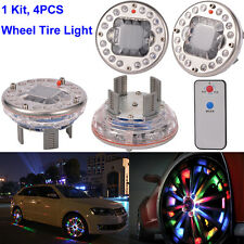 4x Bright Car Wheel Decoration LED Lights Solar Energy Flash Tire Rim Lamp