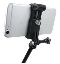 51-84mm Cell Phone Mount Selfie Adapter Clip Holder For GoPro Mounts Black