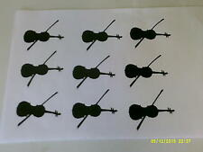 30 x violin / double bass black stickers craft boys music instrument orchestra