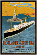 Vintage Transport Travel Advertising Poster RE PRINT Holland
