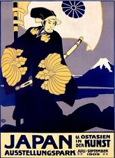 Japanese Art Exhibit 1909 Poster 13 x 17 Giclee print