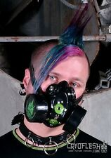Cryoflesh Deep Space CyberGoth Industrial EDM Rave EDC UV Reactive Gas Mask