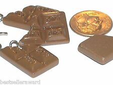 1 little miniature tiny necklace bracelet Chocolate bar candy charm pendant *~