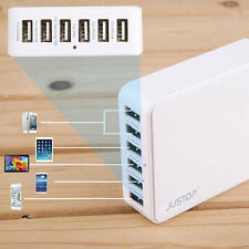 6-port USB DESKTOP CARICABATTERIE MURO PER APPLE IPHONE 4 5 5S 6 PLUS iPad 2 3 4 Air