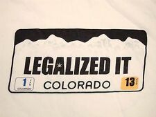 """Legalized It"" Weed Pot Drugs Colorado Liscence Plate Souvenir Funny T Shirt 2XL"