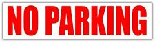 NO PARKING Sticker Sign Vinyl Decal, Modern, Words & Phrases