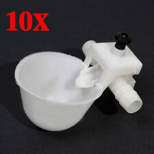 10pcs Pet Drinking Chicken Bird Poultry Fowl Automatic Water Cup Feeder
