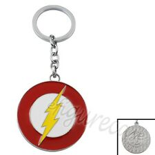 Super Hero The Flash LOGO Metal Pendant Key Ring Chain Colorful