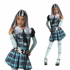 Monster High Deluxe Frankie Stein Halloween Fancy Wig Adult Costume