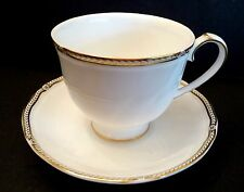 Wedgwood Crown Gold English Bone China Cup, Saucer, Discontinued, Made 1989-2005