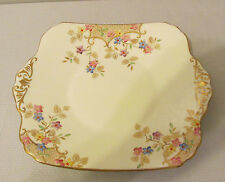 "EB FOLEY CHINA FLORALS AND LATTICE CAKE PLATE / PLATTER 9 6/8""  PATTERN V2170"
